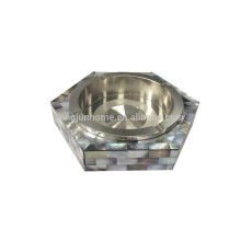 Smoking accessories stainless steel ashtray made from black shell